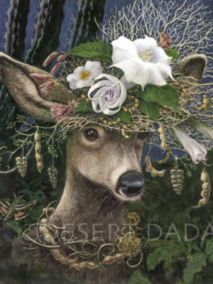 Datura Moon Hat Print