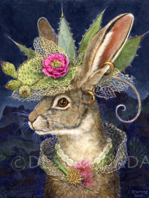 Jackrabbit in Fantastic Hat Print