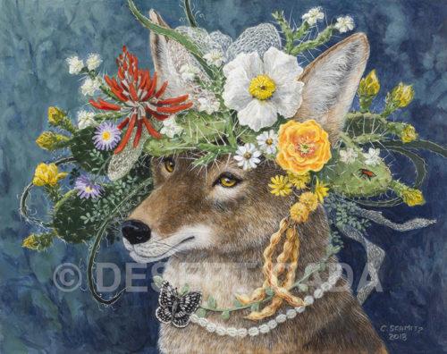 Coyote in the Garden print