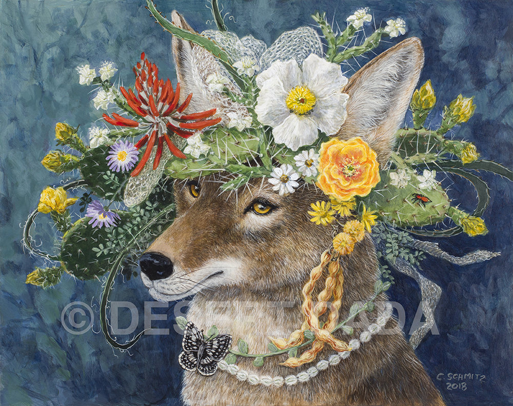Coyote in the Garden print